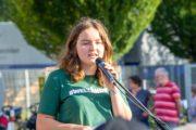 Radentscheid Bielefeld – Demo 22.9.2019 für Radschnellweg, gegen Ausbau der B61 – Greta Giesen – Foto: Andreas Finke