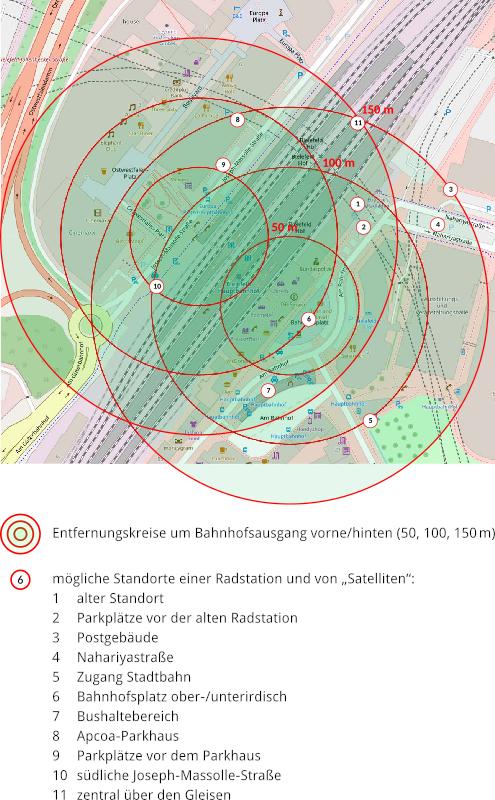 Karte: Standort-Optionen
